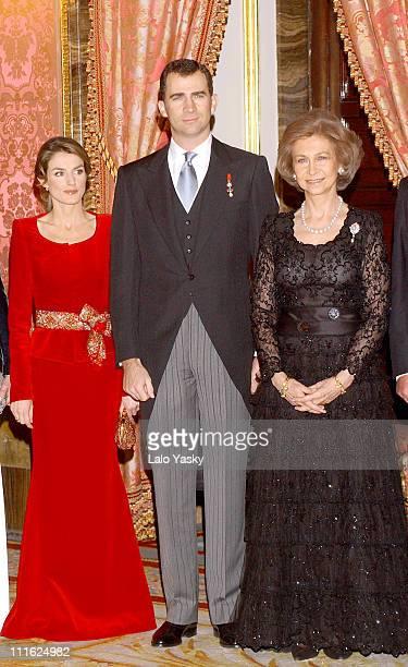 Princess Letizia Crown Prince Felipe of Spain and Queen Sofia