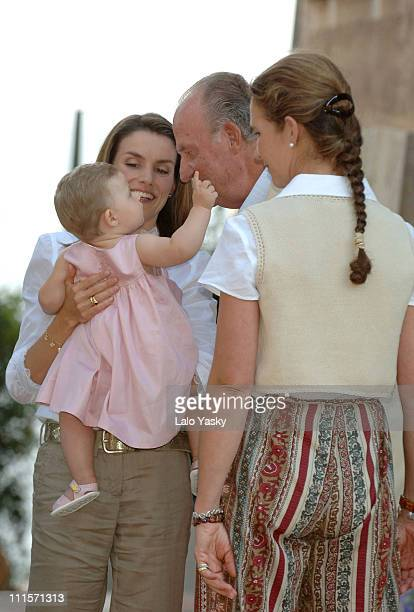 Princess Letizia Daughter Leonor King Juan Carlos and Elena of Spain