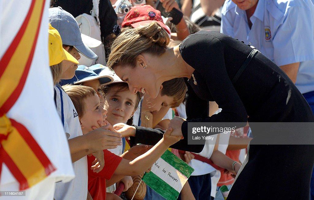 Princess Letizia during Crown Prince Felipe and Princess Letizia preside over the Combat Flag Ceremony of the Spanish Navy 'Alvaro de Bazan' Frigate at Motril Port in Motril, Granada, Spain.