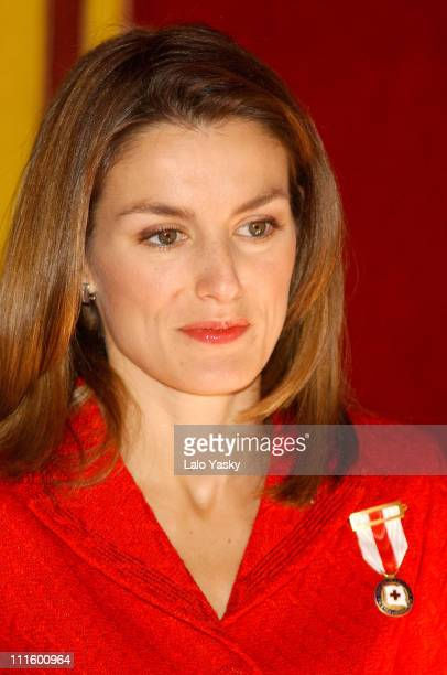 Princess Letizia during Red Cross Fundraising Campaign 2004 Launch at Spanish Parliament in Madrid Spain