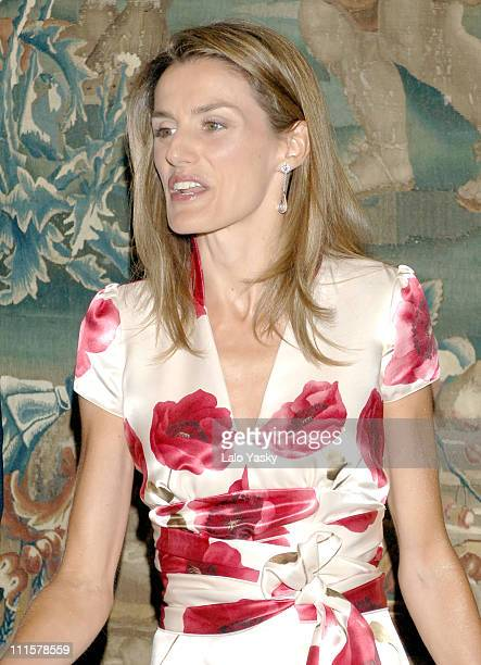 Princess Letizia during Spanish Royals attend the Traditional Summer Holidays End Dinner at Almudaina Palace in Palma de Mallorca Balearic Islands...