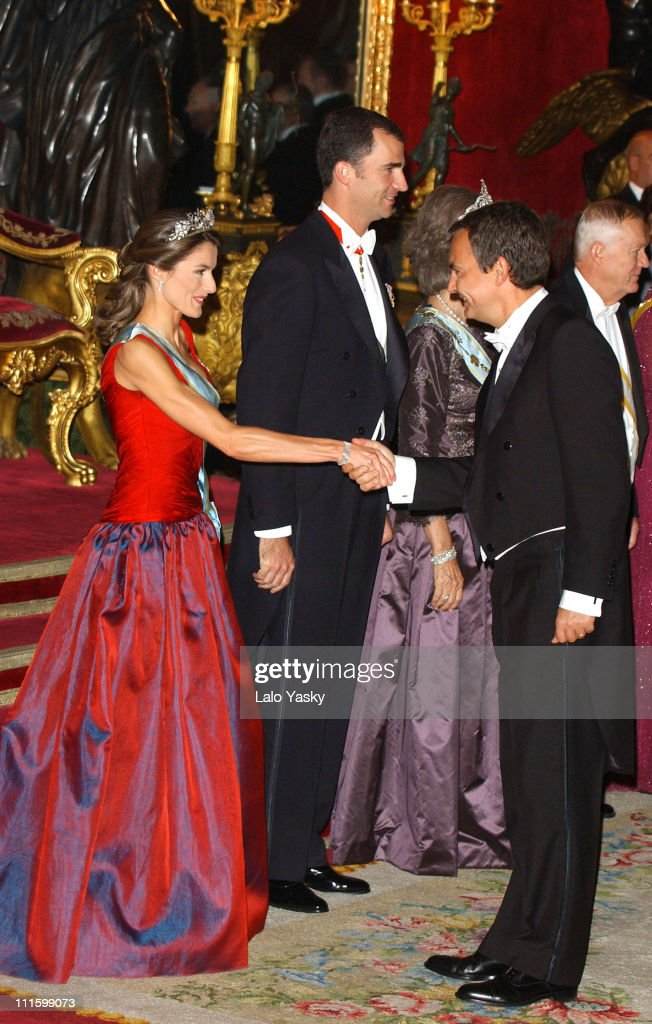 Princess Letizia, husband H.R.H. Crown Prince Felipe of Spain and Spanish Prime Minister, Rodriguez Zapatero