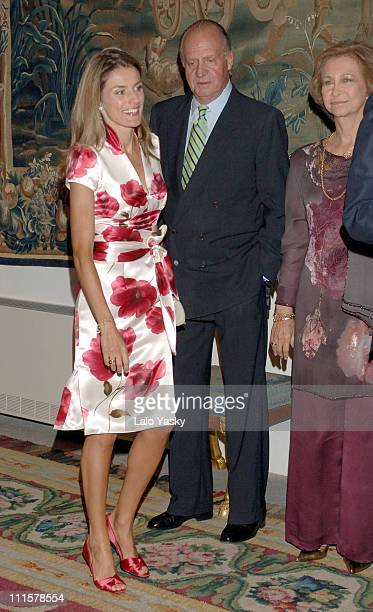 Princess Letizia King Juan Carlos and Queen Sofia