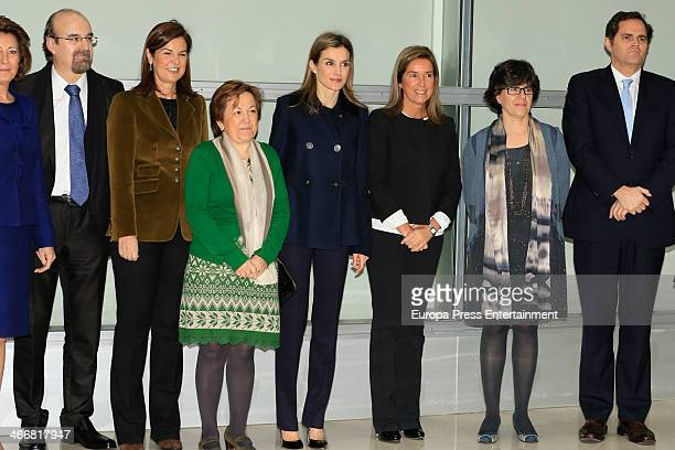Princess Letizia of Spain and Ana Mato attend Forum Against Cancer on February 4 2014 in Madrid Spain