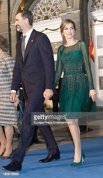 Princess Letizia of Spain and Prince Felipe of Spain attend the Prince of Asturias Awards 2013 ceremony on October 25 2013 in Oviedo Spain