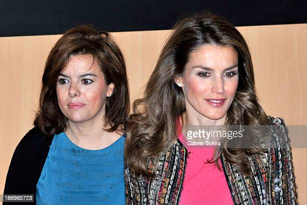 Princess Letizia of Spain and Spanish Deputy Prime Minister Soraya Saenz de Santamaria attend International Congress Against Gender Violence 'New...