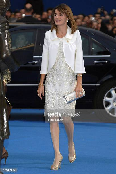Princess Letizia of Spain arrives at the Prince of Asturias Award Ceremony on October 26 2007 at the 'Campoamor' Theatre in Oviedo Spain
