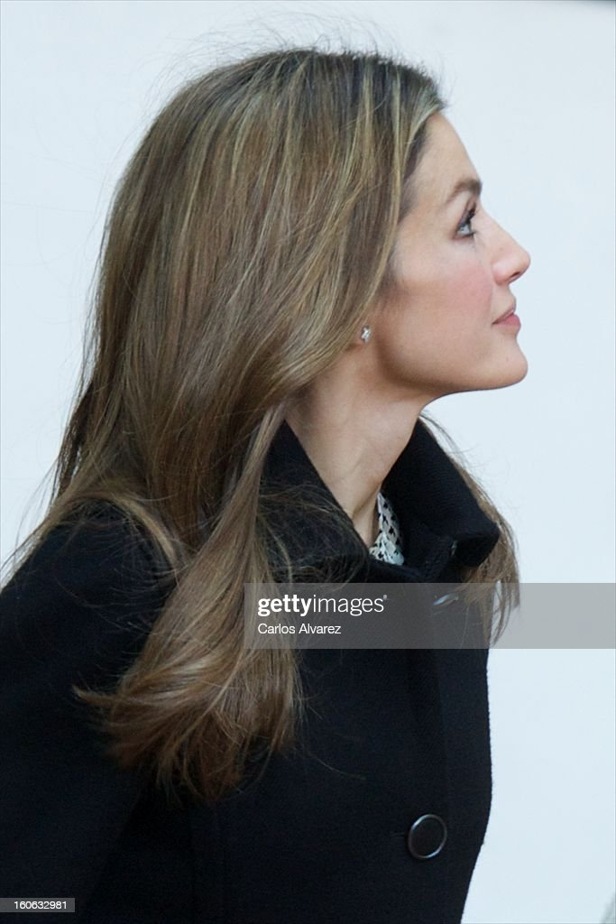 Princess <a gi-track='captionPersonalityLinkClicked' href=/galleries/search?phrase=Letizia+of+Spain&family=editorial&specificpeople=158373 ng-click='$event.stopPropagation()'>Letizia of Spain</a> arrives to Forum against Cancer on February 4, 2013 in Madrid, Spain.