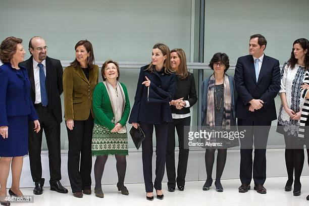 Princess Letizia of Spain arrives to Forum against Cancer on February 4 2014 in Madrid Spain