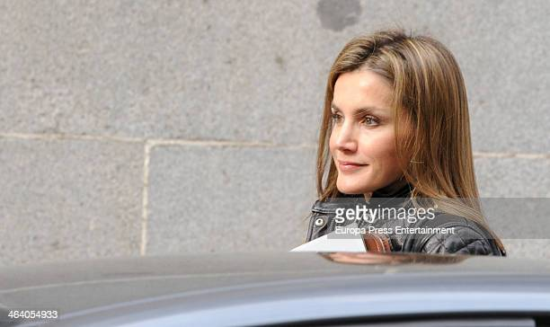 Princess Letizia of Spain as president of honor of Association Against Cancer attends a meeting of AECC on January 20 2014 in Madrid Spain