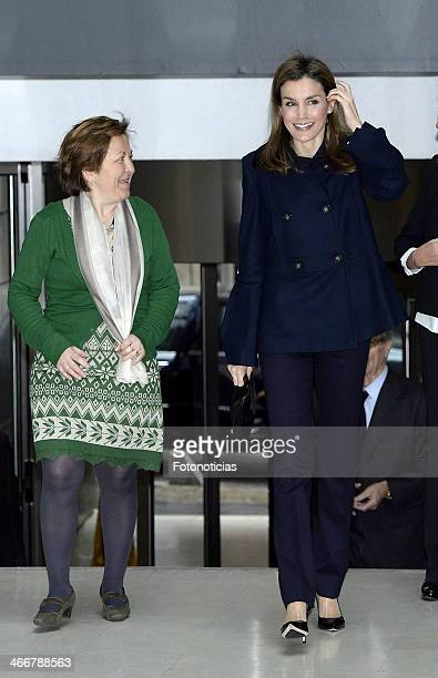 Princess Letizia of Spain attend Forum Against Cancer at the Garrigues Auditorium on February 4 2014 in Madrid Spain