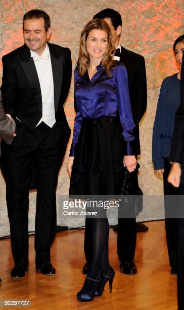 Princess Letizia of Spain attends a Gala Concert at the Auditorio Principe Felipe during the Prince of Asturias Awards 2009 on October 22 2009 in...