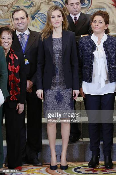 Princess Letizia of Spain Attends Audiences at Zarzuela Palace  at Zarzuela Palace on February 10 2014 in Madrid Spain