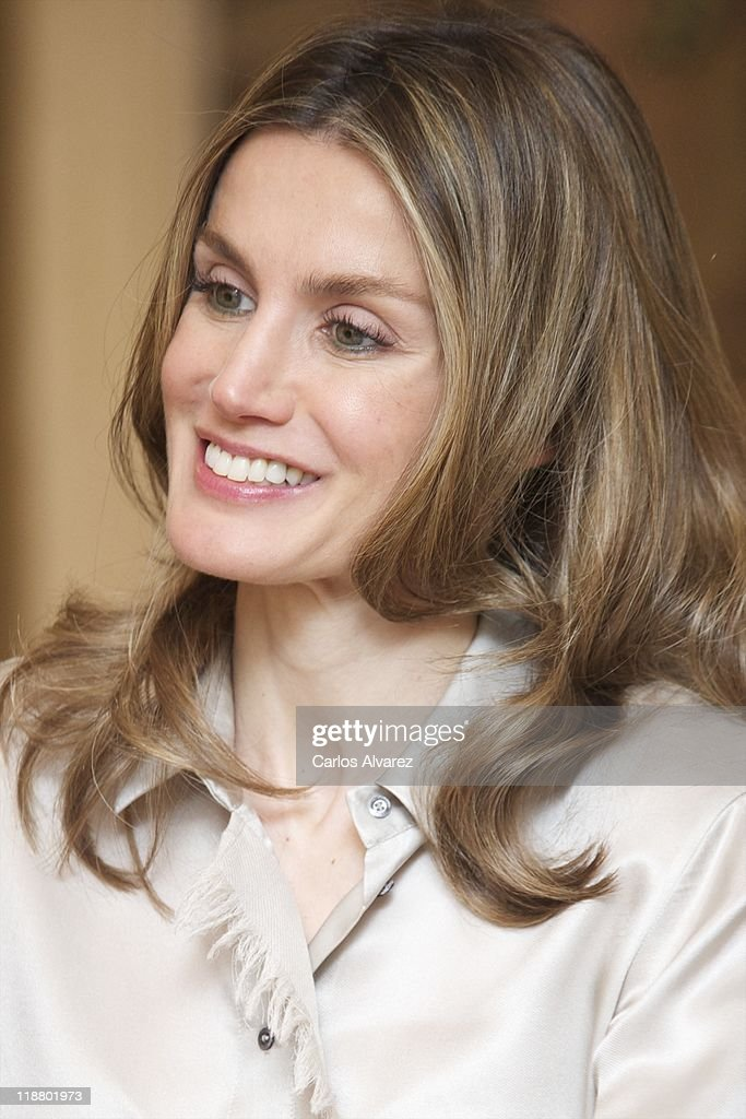 Princess Letizia of Spain attends audiences at Zarzuela Palace on July 11, 2011 in Madrid, Spain.