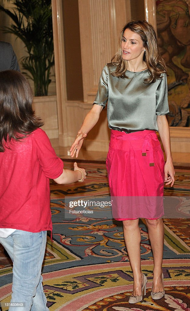 Princess Letizia of Spain attends audiences at Zarzuela Palace on May 18, 2011 in Madrid, Spain.