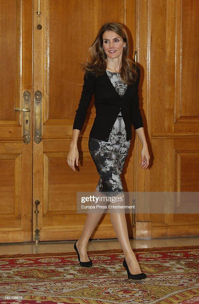 Princess Letizia of Spain attends audiences during 'Principe of Asturias Awards 2013' on October 24 2013 in Oviedo Spain