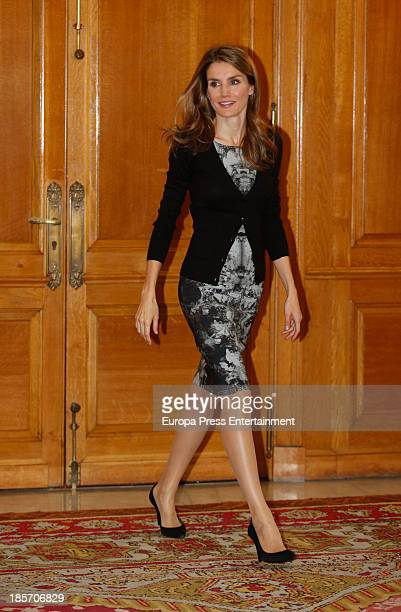 Princess Letizia of Spain attends audiences during 'Principe of Asturias Awards 2013' on October 24 2013 in Oviedo Spain