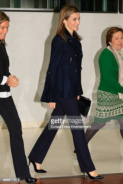 Princess Letizia of Spain attends Forum Against Cancer on February 4 2014 in Madrid Spain