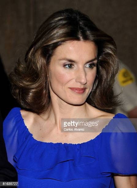 Princess Letizia of Spain attends Mingote Awards Gala Dinner on June 19 2008 at the ABC building in Madrid Spain