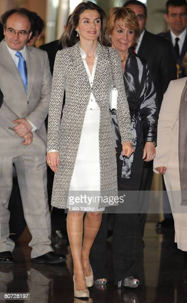 Princess Letizia of Spain attends Minors Defense Awards ceremony held at the Auditorio Nacional de Musica on April 17 2008 in Madrid Spain