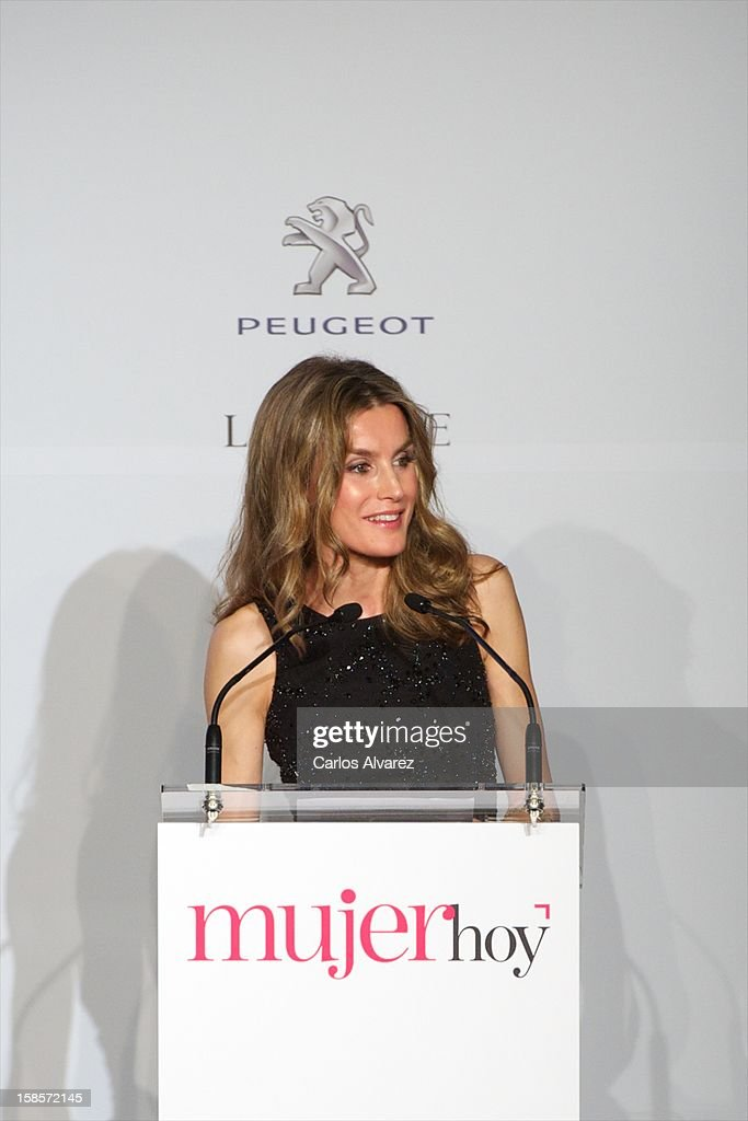 Princess <a gi-track='captionPersonalityLinkClicked' href=/galleries/search?phrase=Letizia+of+Spain&family=editorial&specificpeople=158373 ng-click='$event.stopPropagation()'>Letizia of Spain</a> attends Mujer Hoy awards 2012 at ABC Museum on December 19, 2012 in Madrid, Spain.