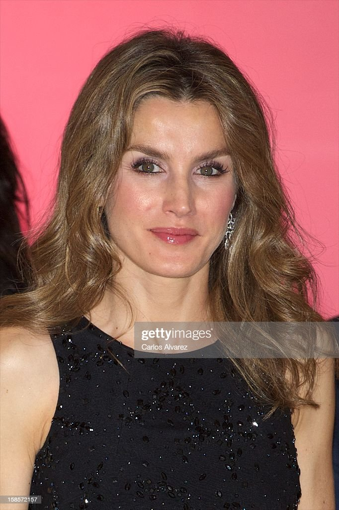 Princess Letizia of Spain attends Mujer Hoy awards 2012 at ABC Museum on December 19, 2012 in Madrid, Spain.