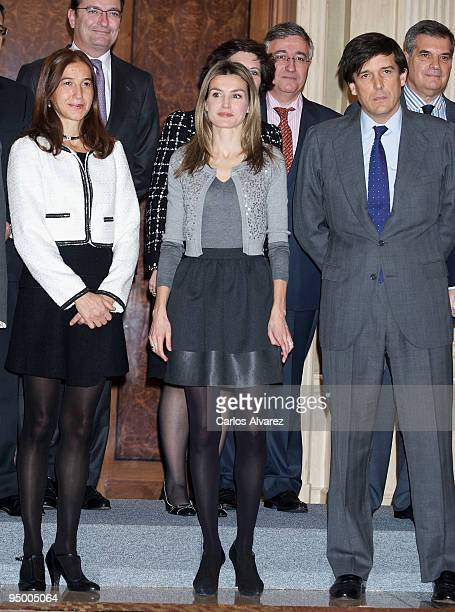 Princess Letizia of Spain attends Official Audiences at Zarzuela Palace on December 22 2009 in Madrid Spain