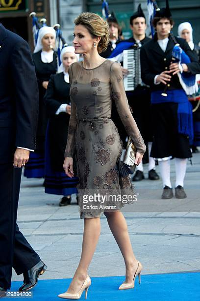 Princess Letizia of Spain attends 'Principe de Asturias' awards 2011 ceremony at the Campoamor Theatre on October 21 2011 in Oviedo Spain
