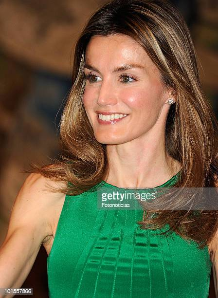 Princess Letizia of Spain attends several audiences at Zarzuela Palace on June 2 2010 in Madrid Spain