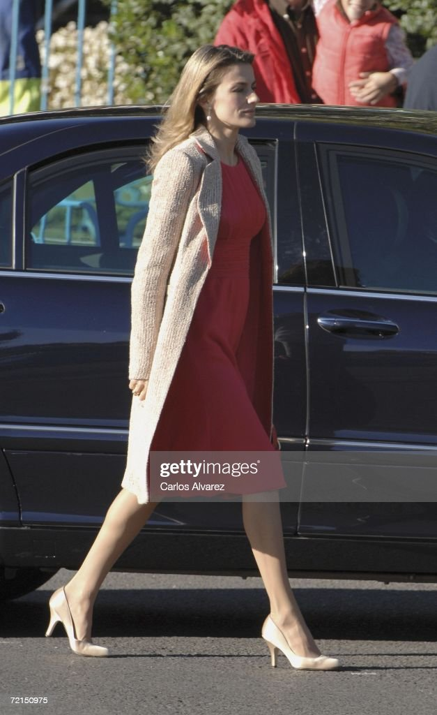 Princess Letizia of Spain attends Spain's National Day Military Parade in Castellana Avenue on October 12 2006 in Madrid Spain Spain's National Day...