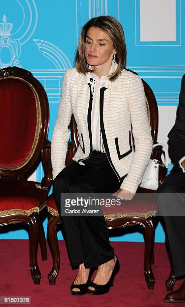 Princess Letizia of Spain attends the 4th Luis Carandell Awards at the Senate Palace on June 09 2008 in Madrid Spain