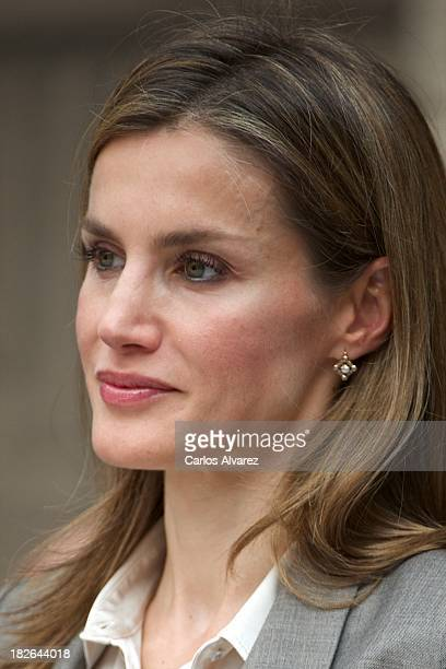 Princess Letizia of Spain attends the celebration of Santos Angeles Custodios Day Spanish police's patrons on October 2 2013 in Madrid Spain