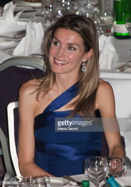 Princess Letizia of Spain attends the Foreign Press Association Media Awards Ceremony at the Sheraton Park Lane on November 24 2009 in London England