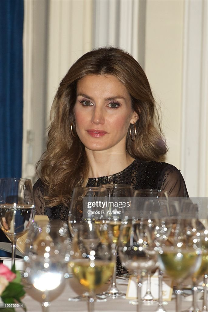 Princess <a gi-track='captionPersonalityLinkClicked' href=/galleries/search?phrase=Letizia+of+Spain&family=editorial&specificpeople=158373 ng-click='$event.stopPropagation()'>Letizia of Spain</a> attends the 'Francisco Cerecedo Journalism Award' ceremony at the Ritz Hotel on November 20, 2012 in Madrid, Spain.