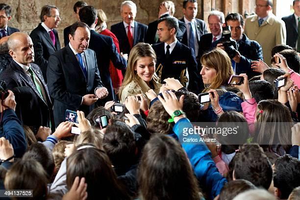 Princess Letizia of Spain attends the inauguration of the IX International Seminary about Language and Communication Media 'El Espanol del Futuro en...