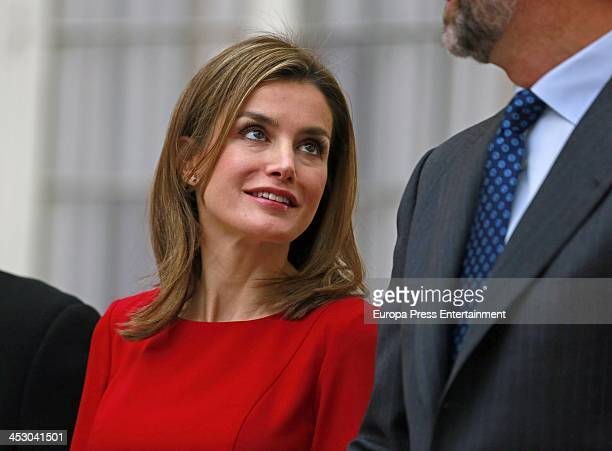 Princess Letizia of Spain attends the National Sports Awards ceremony at El Pardo Palace on December 2 2013 in Madrid Spain