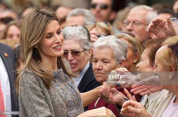 Princess Letizia of Spain attends the opening of 'In Principio Erat VerbumEl Reino de Leon y sus Beatos' exhibition on September 23 2010 in Leon Spain