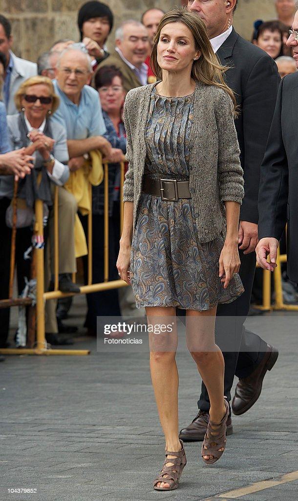 Princess Letizia of Spain attends the opening of 'In Principio Erat Verbum:El Reino de Leon y sus Beatos' exhibition on September 23, 2010 in Leon, Spain.