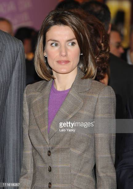 Princess Letizia of Spain attends the opening of the gastronomic international fair 'Alimentaria 2008' at the Fira on March 10 2008 in Barcelona Spain