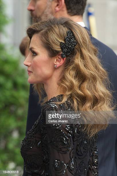 Princess Letizia of Spain attends the Prince of Asturias Awards 2012 ceremony at the Campoamor Theater on October 26 2012 in Oviedo Spain