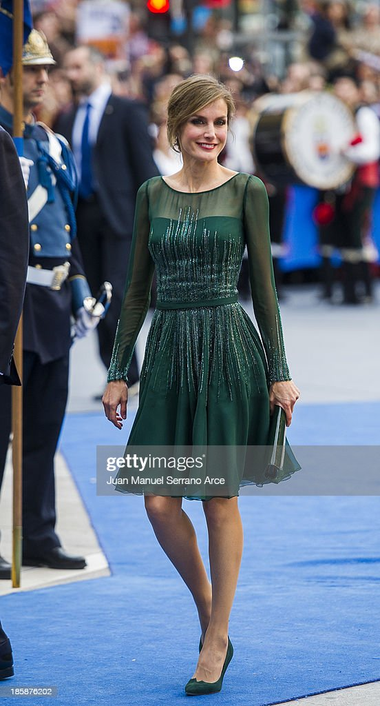Princess Letizia of Spain attends the 'Prince of Asturias Awards 2013' ceremony at the Campoamor Theater on October 25, 2013 in Oviedo, Spain.