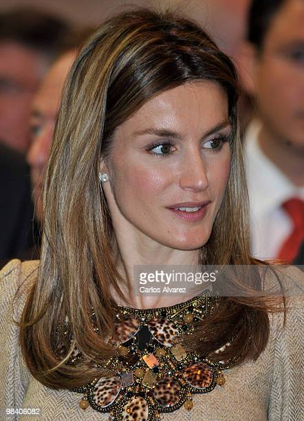Princess Letizia of Spain attends the Salon de Gourmets international fair at IFEMA on April 12 2010 in Madrid Spain