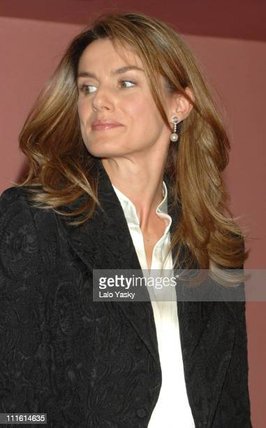 Princess Letizia of Spain during Princess Letizia Supports Victims of Terrorism October 6 2006 at Monumental Theatre in Madrid Spain