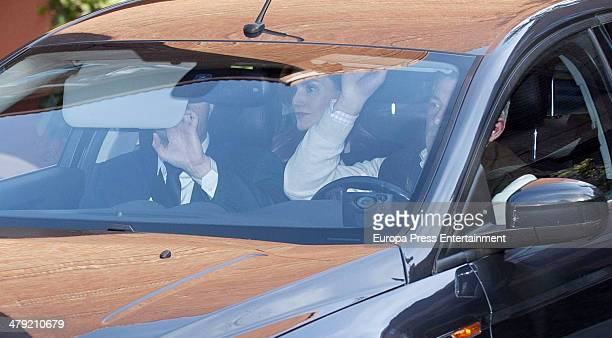 Princess Letizia of Spain expresses her condolences to Marichalar family on March 14 2014 in Madrid Spain Princess Elena of Spain's ex motherinlaw...
