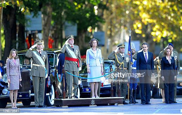Princess Letizia of Spain Prince Felipe of Spain King Juan Carlos of Spain Queen Sofia of Spain Prime Minister Jose Luis Rodriguez Zapatero and...