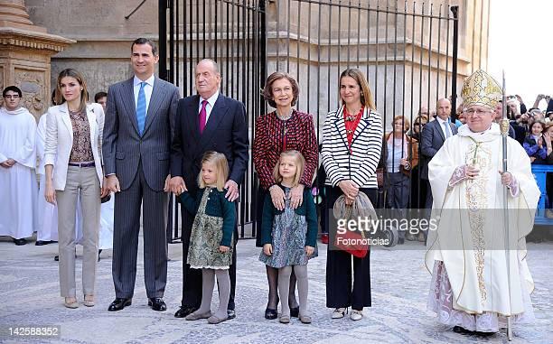 Princess Letizia of Spain Prince Felipe of Spain King Juan Carlos of Spain Queen Sofia of Spain Princess Elena of Spain Princess Sofia of Spain and...
