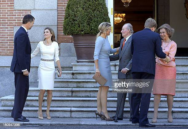 Princess Letizia of Spain Prince Felipe of Spain Queen Maxima of The Netherlands King WillemAlexander of The Netherlands King Juan Carlos of Spain...