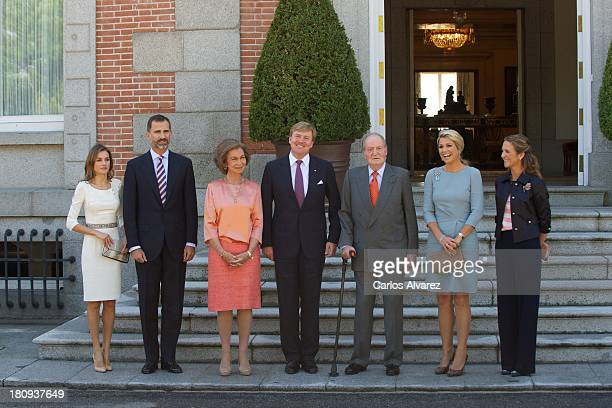 Princess Letizia of Spain Prince Felipe of Spain Queen Sofia of Spain King WillemAlexander of The Netherlands King Juan Carlos of Spain Queen Maxima...