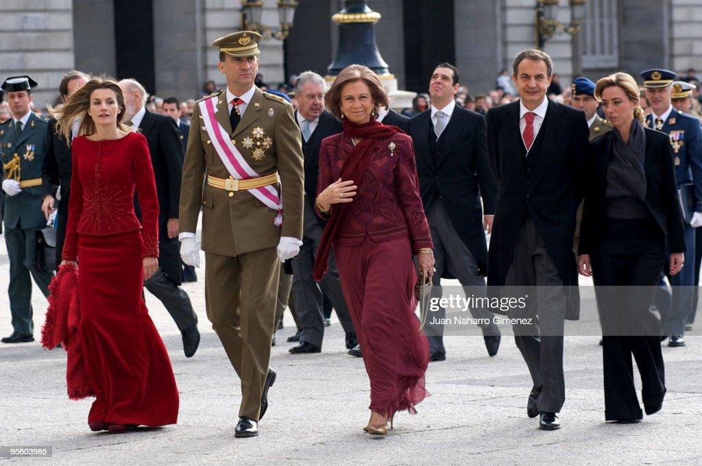 Spanish Royals Celebrate New Year's Military Parade 2010