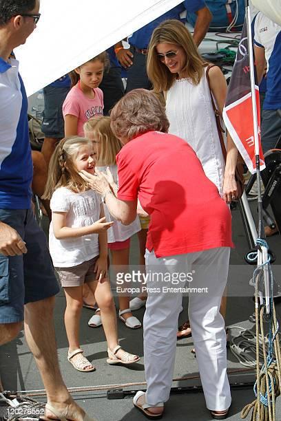 Princess Letizia of Spain Princess Sofia Princess Leonor Princess Sofia Queen Sofia and Prince Felipe of Spain attend the 30th Copa del Rey Audi...